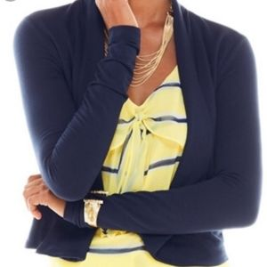 Cabi Easy Knit Topper cardigan in navy blue